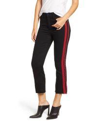 Pam & Gela - Side Stripe Crop Jeans - Lyst