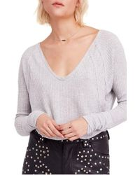Free People - We The Free By Catalina V-neck Thermal Top - Lyst