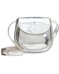 Deux Lux - Shine Faux Leather Saddle Bag - - Lyst
