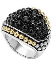 Lagos - 'black Caviar' Dome Ring - Lyst