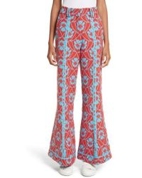 Richard Malone | Floral Flare Trousers | Lyst