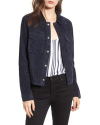 AG Jeans - Ari Suede Trucker Jacket - Lyst
