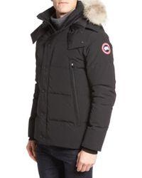 Canada Goose - Wyndham Slim Fit Genuine Coyote Fur Trim Down Jacket - Lyst