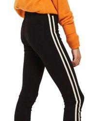 TOPSHOP - Moto Side Stripe Jeans - Lyst