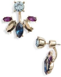 Marchesa - Stone Drop-back Earrings - Lyst