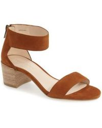 Pelle Moda | Pella Moda 'urban' Block Heel Sandal | Lyst