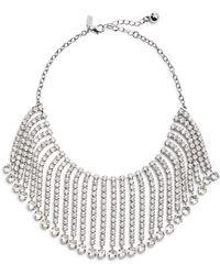 Kate Spade - Crystal Fringe Collar Necklace - Lyst