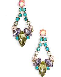 Sorrelli - Noveau Navette Crystal Drop Earrings - Lyst