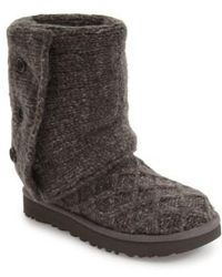 Ugg | ® Classic Cardy Button Detailed Knit Boots | Lyst