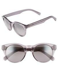 Maui Jim - Dragonfly 49mm Polarized Cat Eye Sunglasses - Translucent Grey/ Neutral Grey - Lyst