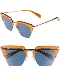 c3b6dc83b4591 Lyst - Rag   Bone 51mm Cat Eye Sunglasses -