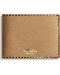 Shinola - Outrigger Bifold Leather Wallet - Lyst