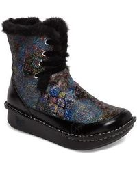 Alegria - Twisp Lace-up Boot With Faux Fur Lining - Lyst