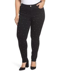 Lost Ink - Sequin Skinny Jeans - Lyst