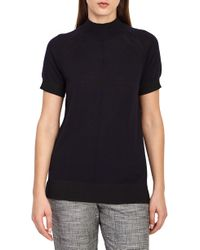 Reiss - Rita Wool Short Sleeve Sweater - Lyst