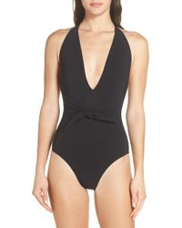 Tory Burch - Tie Front One-piece Swimsuit - Lyst
