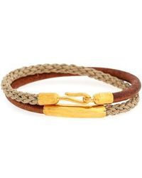 Caputo & Co. - Leather & Jute Wrap Bracelet - Lyst