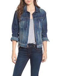 Hudson Jeans - Pierced Denim Jacket - Lyst