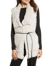 Love Token - Longline Genuine Rabbit Fur Vest - Lyst