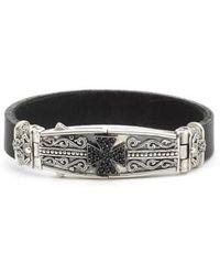 Konstantino - Plato Maltese Cross Leather Bracelet - Lyst