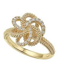Lagos | 'love Knot' Diamond Ring | Lyst