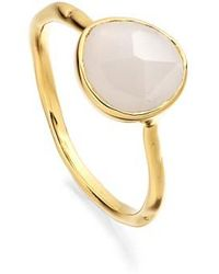 Monica Vinader - Siren Semiprecious Stone Stacking Ring - Lyst