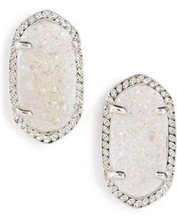 Kendra Scott | Ellie Oval Stone Stud Earrings | Lyst