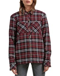 Volcom - Getting Rad Plaid Relaxed Fit Long Sleeve Flannel Shirt - Lyst