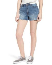 EVIDNT - Ripped Boyfriend Shorts - Lyst