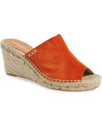 3e553dd311a Lyst - Patricia Green Nora Linen Espadrille Wedges in Black