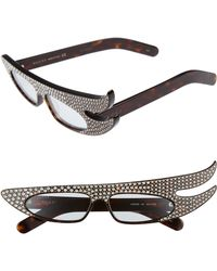 f918cf37e3d Lyst - Fendi Statement Sunglasses - Crystal brown Gradient in Brown