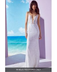 Ines by Ines Di Santo - Kendall Embroidered Column Gown - Lyst