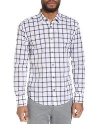 BOSS - Reid Slim Fit Windowpane Sport Shirt - Lyst