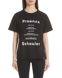 Proenza Schouler - Pswl Graphic Tee - Lyst