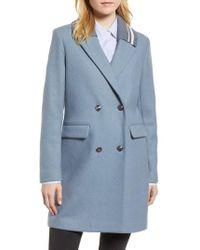 BCBGeneration - Knit Collar Wool Blend Coat - Lyst