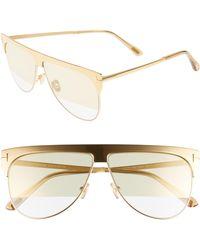 975328ab4f2 Tom Ford - Winter 62mm Rectangular Sunglasses - Rhodium  Grey  Clear W  Silver -
