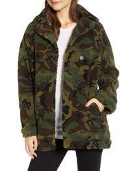 Pam & Gela - Oversize Fleece Camo Coat - Lyst
