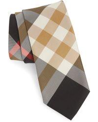 Burberry - Manston Check Silk Blend Tie - Lyst