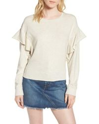 Joe's | Faye Ruffle Sweatshirt | Lyst