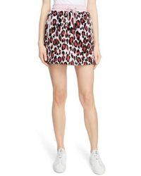KENZO - Leopard Print Jogging Miniskirt - Lyst