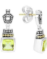 Lagos | 'caviar Color' Square Semiprecious Stone Drop Earrings | Lyst