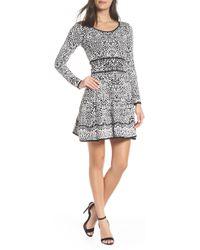 Fraiche By J - Intarza Fit & Flare Sweater Dress - Lyst