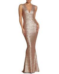 Dress the Population   Karina Plunge Mermaid Gown   Lyst