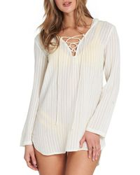 Billabong - Same Side Hooded Cover-up Tunic - Lyst