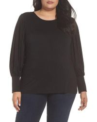 Vince Camuto - Bubble Drama Sleeve Tee - Lyst