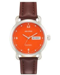 Jack Spade - 'classic Military - Stillwell' Round Watch - Lyst