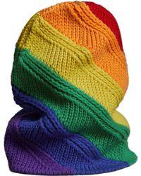 Burberry - Rainbow Stripe Wool & Cashmere Knit Beanie - - Lyst