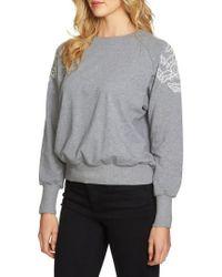 1.STATE | Embroidered Shoulder Sweatshirt | Lyst