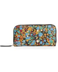 Victoria Beckham - Marble Continental Leather Wallet - Lyst