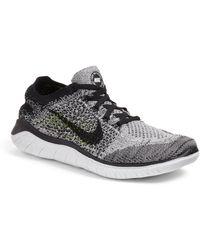 26bd4452ffaf Lyst - Nike Free Rn Flyknit 2018 Running Shoe in Black
